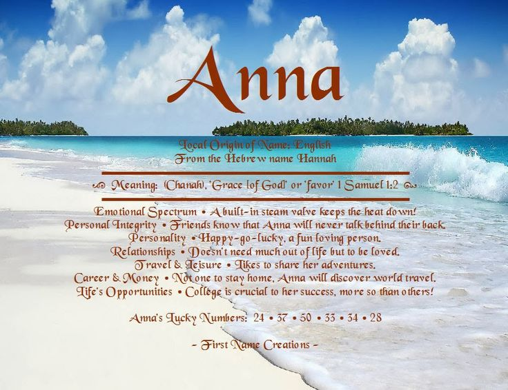 meaning of the name anna | is for Authenticity, with which you lead your life