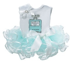 Tiffany & Co. tutu outfit.  lol.  --I'm usually not into the girlie, foo-foo stuff, but this is cute.
