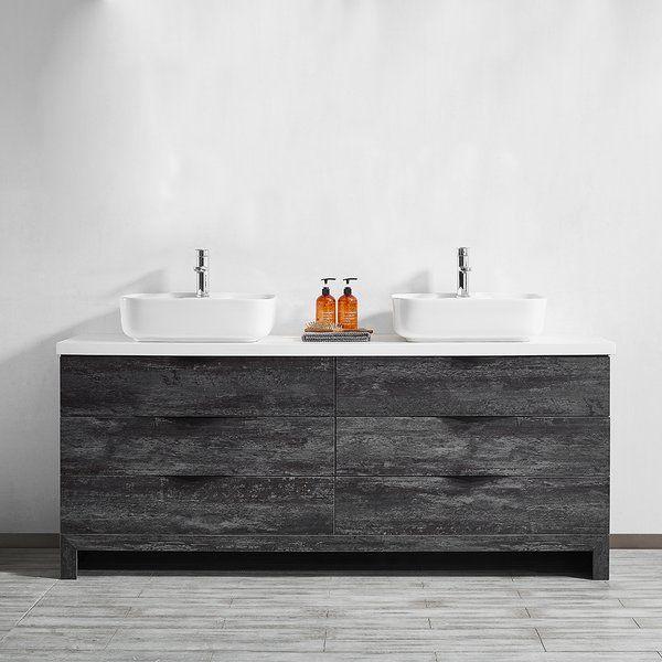 Kelsey 72 Double Bathroom Vanity Set