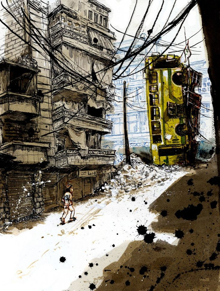 Molly Crabapple's illustrations from Syria / Boing Boing