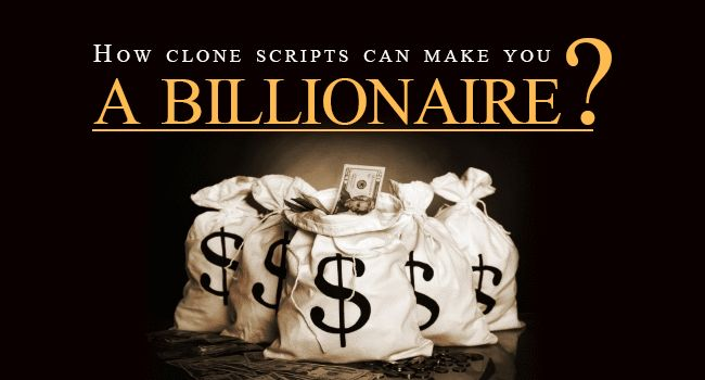 How Agriya's ‪#‎clonescripts‬ can make you a billionaire? To know more: http://www.saveintrash.com/how-clone-scripts-can-make-you-a-billionaire/