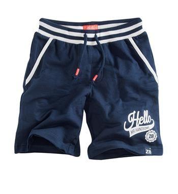 Z8 baby sweat short, model Gijs Jogging Short. Deze heerlijk comfortabele korte broek is voorzien van een gestreepte elastische taille met tunnelkoord - Navy - NummerZestien.eu