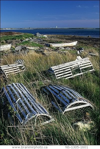 Abandoned lobster traps, Cape Sable Island, Nova Scotia