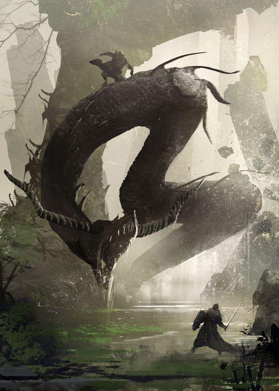 Serpente Marinha, possui uma velocidade assustadora dentro d'agua, suas presas possuem veneno paralisante