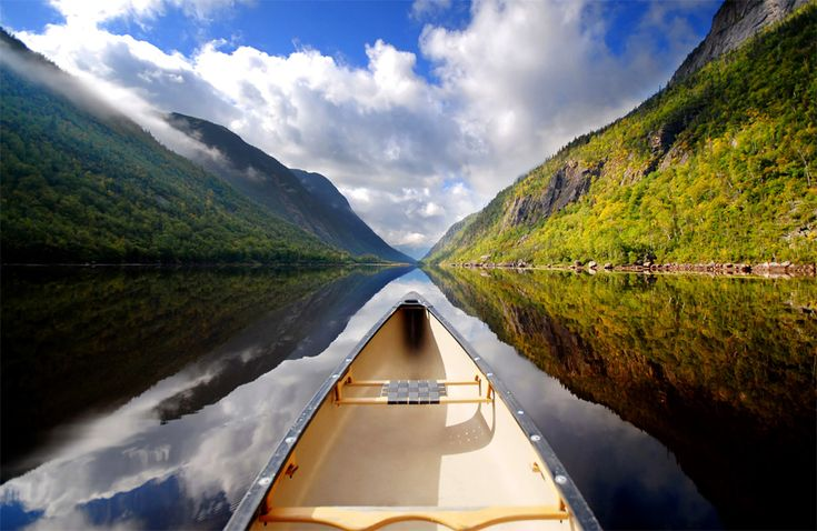Looks like the most peaceful canoe ride in history.