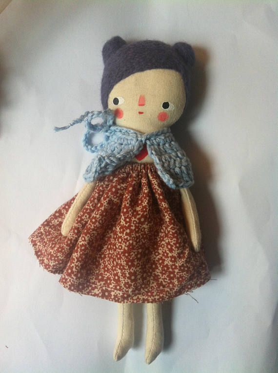 little traditional cloth doll stocking filler