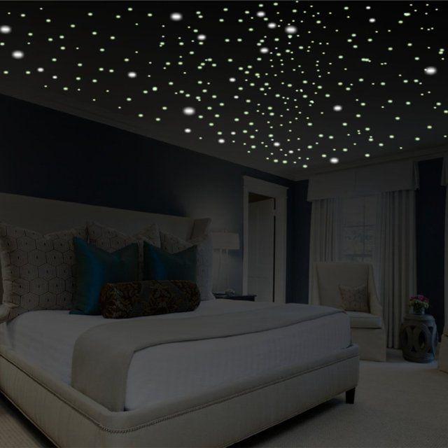 glow in the dark star decals looking for romantic bedroom decor look no further
