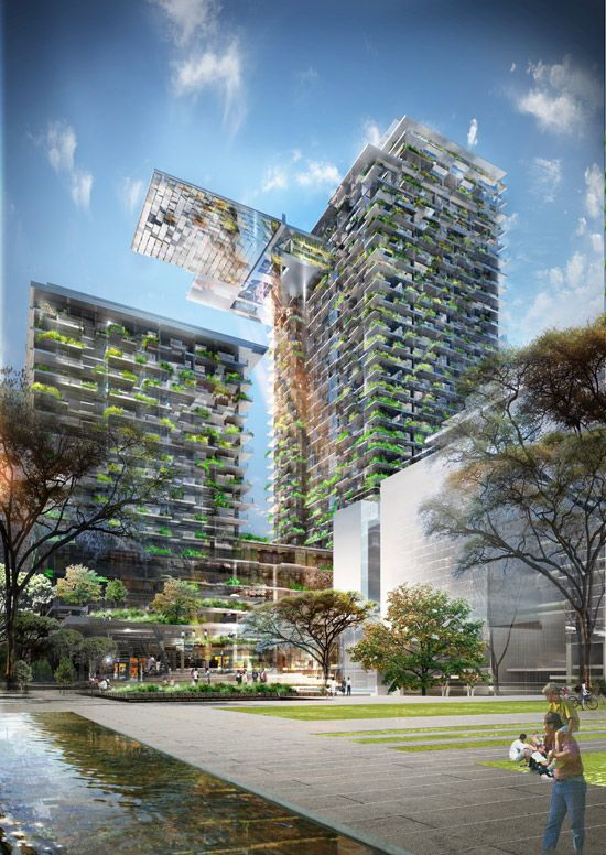 Architect: Jean Nouvel.  Now this is what I call 'Community Greenhouse'! Would be sweet . .