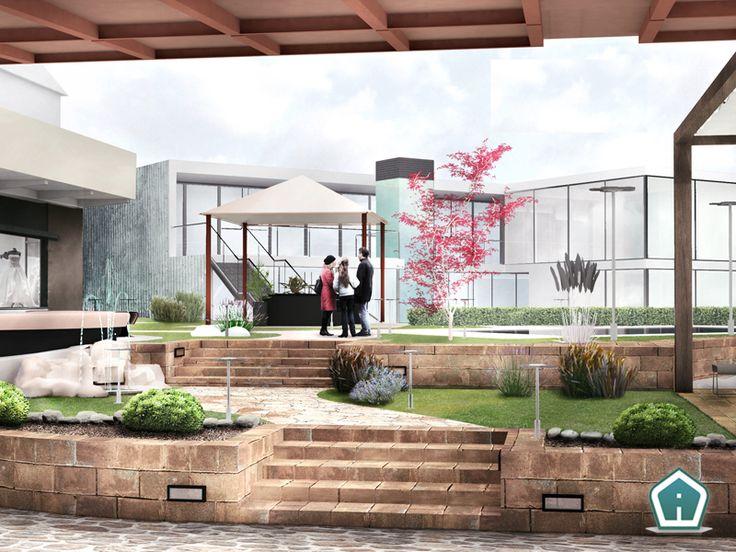 3d Garden Design - design and services: commercial park exterior rendering