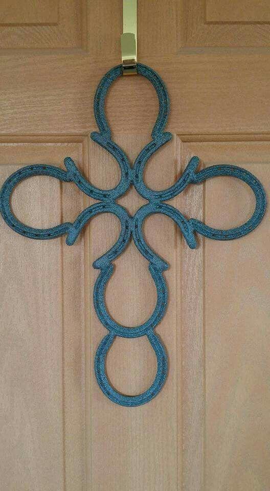 Decorative Horseshoe Cross Door Hanger