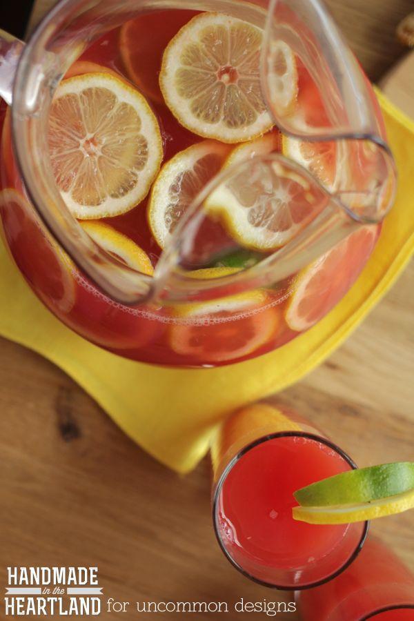 Watermelon Lemon Limeade Summer Drink Recipe