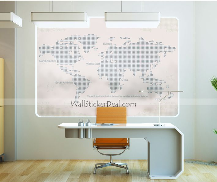30 best urban wall decals images on pinterest wall clings wall blind world map wall sticker by walloo gumiabroncs Images