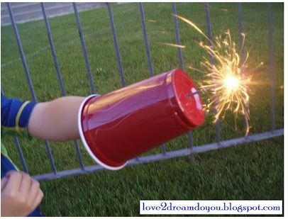 10 Fabulous Fourth of July Ideas : Sparkler Shields