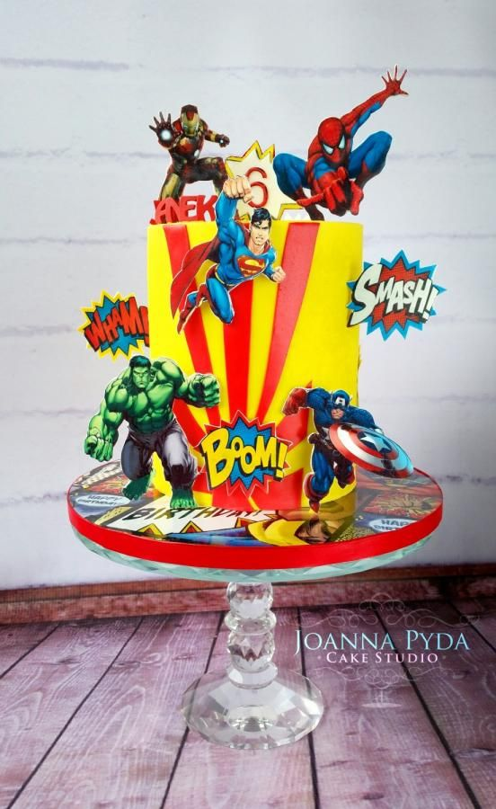 Superhero Cake - Cake by Joanna Pyda Cake Studio                              …                                                                                                                                                                                 More
