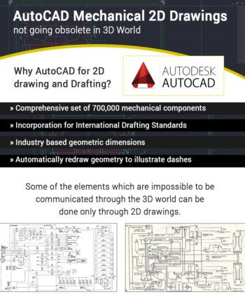 #AutoCAD #Mechanical #2DDrawings; not going obsolete in #3D World