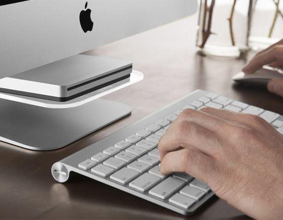 Quirky Stashboard iMac : Etagere pour iPhone, Graveur DVD, Clavier (images)