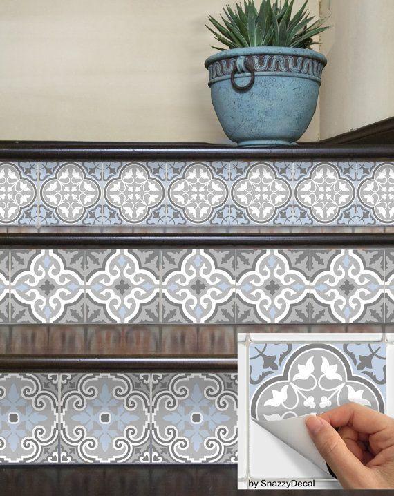 Wall Tile Decals Vinyl Sticker removable Tile or Wallpaper for Kitchen Bath Stair Risers : Bmix3 – Klarie Kratzke