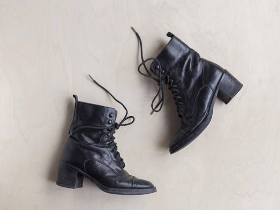 vintage 90s lace up boots