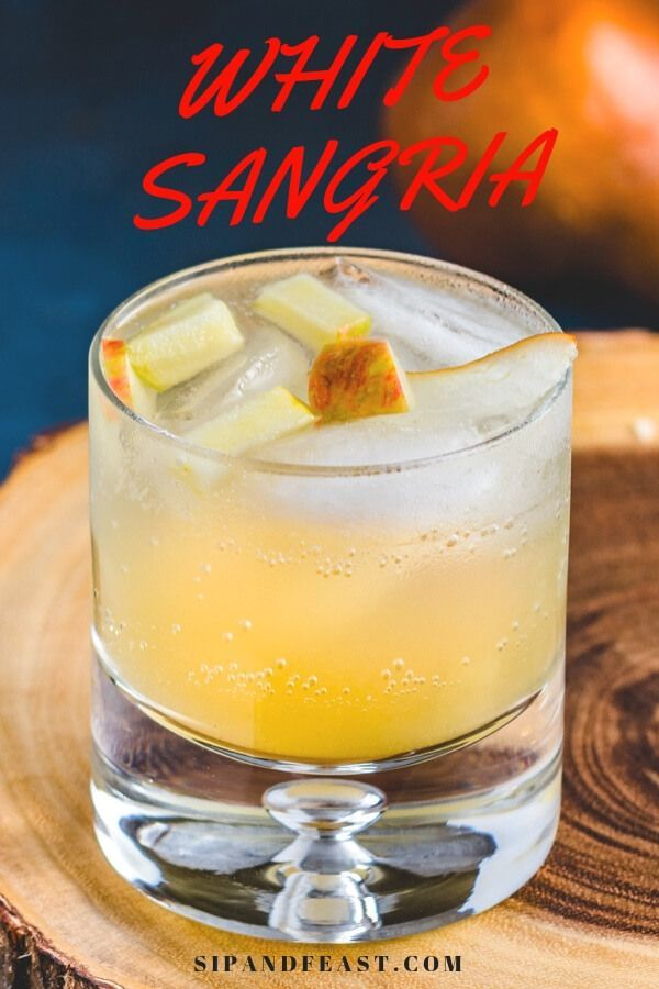 White Wine Sangria With Apple Pear And Cinnamon Flavors Amazing