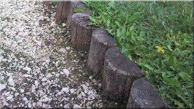 Garteneinfassung aus Robinienholz