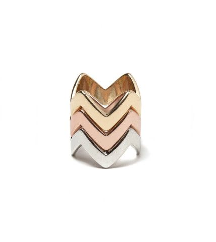 Stacked Jagged Ring | Fashion Statement Jewelry Rings | HOTTT.COM