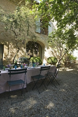 french bistro chairs & dappled sunlight Room Seventeen