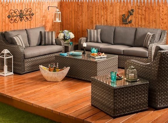 Capri Outdoor Sofa | Patio U0026 Outdoor Seating | Raymour And Flanigan  Furniture U0026 Mattresses #