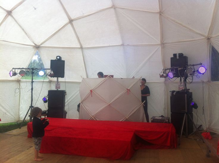 Set up for wedding dj set