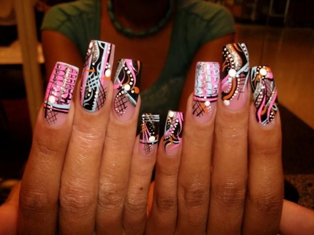 12 Best Nails Images On Pinterest Acrylic Nail Designs Art Nails