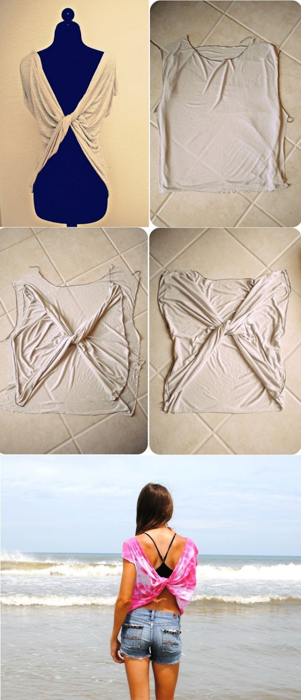 Chic Butterfly Twist-Back Tee T-shirt - DIY by AllDayChic