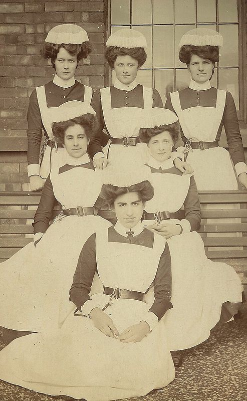 Another vintage photo of asylum nurses and their uniforms. Click on photo, and the posts below, for more vintage nurses in uniform.