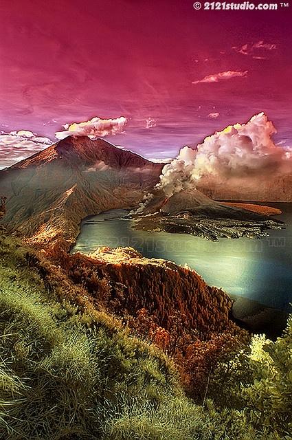 Mount Rinjani, Lombok, Indonesia (HDR + Infrared)