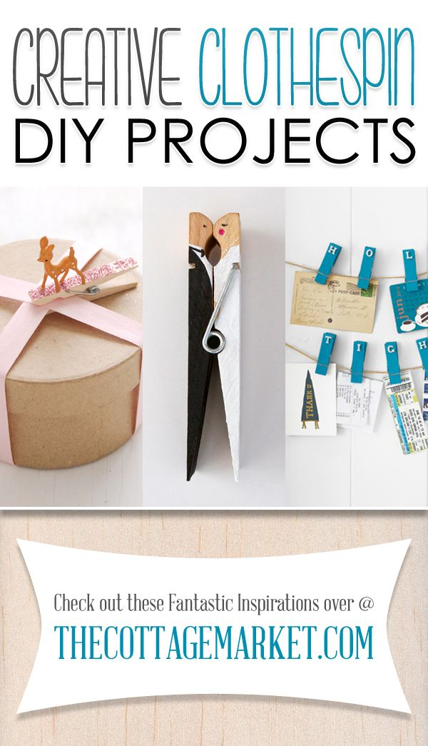 Looking for some Creative Clothespin DIY Projects that are perfect for you and your family...you are in the right place! Create and enjoy!
