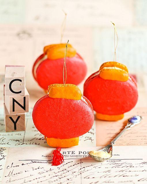 Chinese Lantern Macarons by raspberri cupcakes, via Flickr