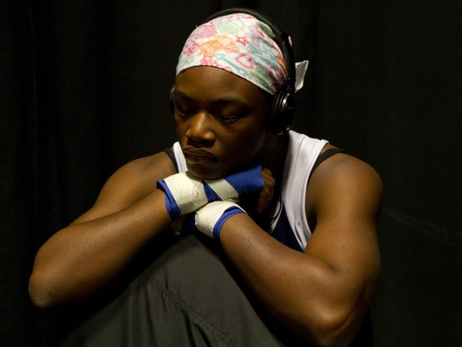 Claressa, a high school student and middleweight boxer from Flint, Mich., is the youngest fighter competing for a place on the U.S. Olympic women's boxing team.