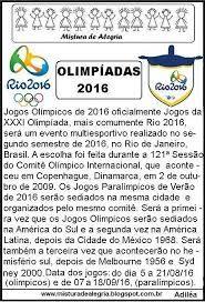 Resultado de imagem para mascotes olimpiadas 2016 para colorir