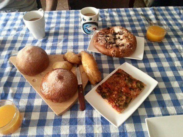 スペインの朝ごはん。