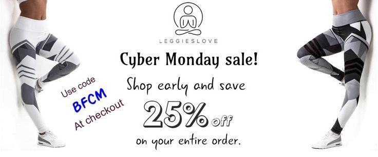 Enjoy and save 25% discount for your entire order on Cyber Monday sale!  #leggieslove #leggings #leggingsforsale #yogapants #yogalover #yogagirl #women #yogalovers #blackleggings #plussizeleggings