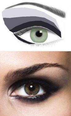 Девушки, делюсь ГОРИЗОНТАЛЬНОЙ техникой нанесения макияжа,  при которой все цвета наносятся горизонтально относительно глаза. | uDuba.com