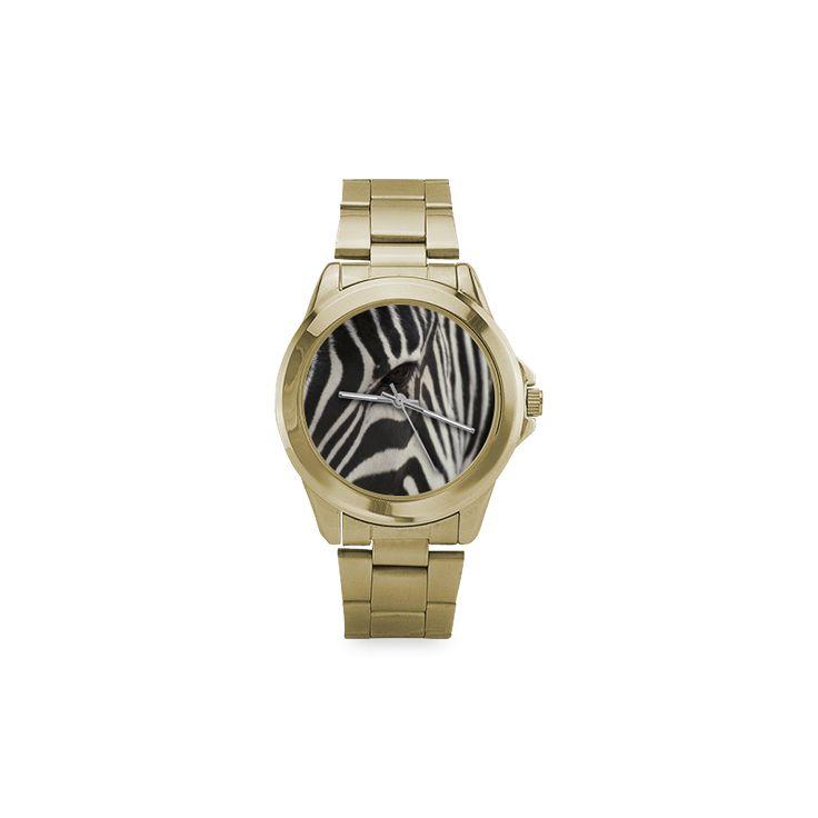 Zebra Unisex Gilt Watch. FREE Shipping. #artsadd #watches #zebra