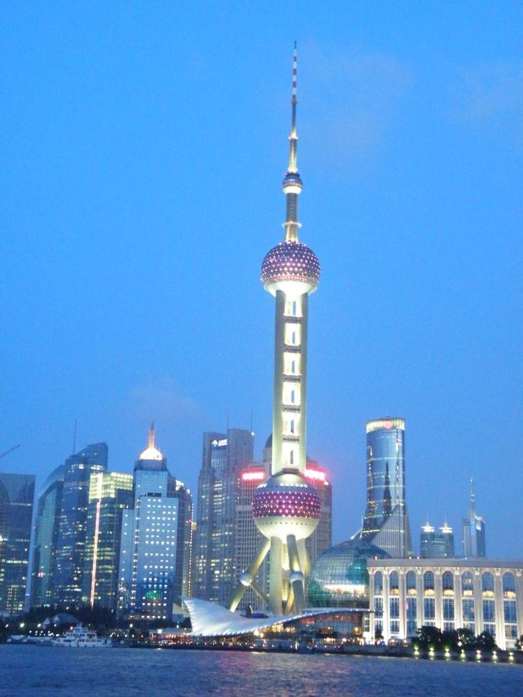 Shanghai during blue hour