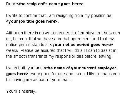 how to write a notice for leaving work
