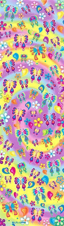 Vintage Lisa Frank Butterfly Long Sticker by CollectorsWarehouse