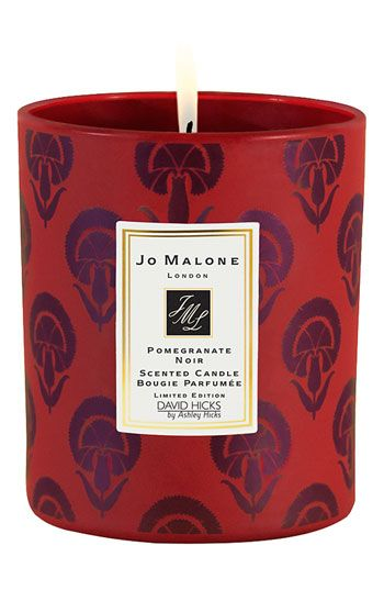 pomegranate jo malone candle with david hicks patterned jar