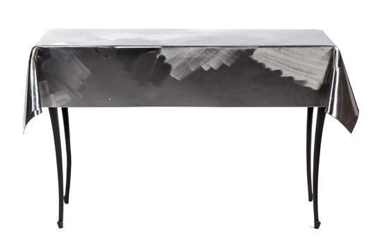Curtis Jere, USA, 1989, artisan house console table - Price Estimate: $200 - $400