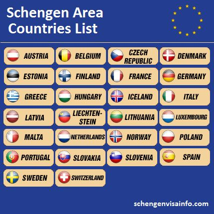 A list of 26 countries makes for a Schengen region which allows its citizens free movement in and out of the Schengen area. Others commonly need a Schengen visa.