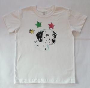 Koszulka lub bluzka dziewczęca ręcznie malowana - psy - Dalmatyńczyk