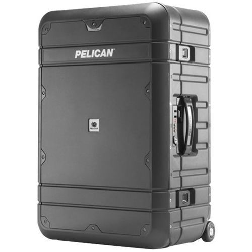 "Pelican - Progear Elite Luggage 24.6"" Wheeled Upright Suitcase - Gray/Black"