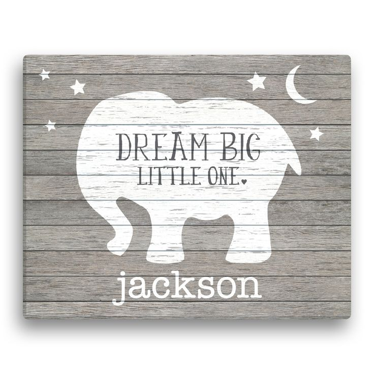 Best 25 personalized baby gifts ideas on pinterest pink dream big little one personalized elephant canvas personalized baby gifts unique negle Gallery