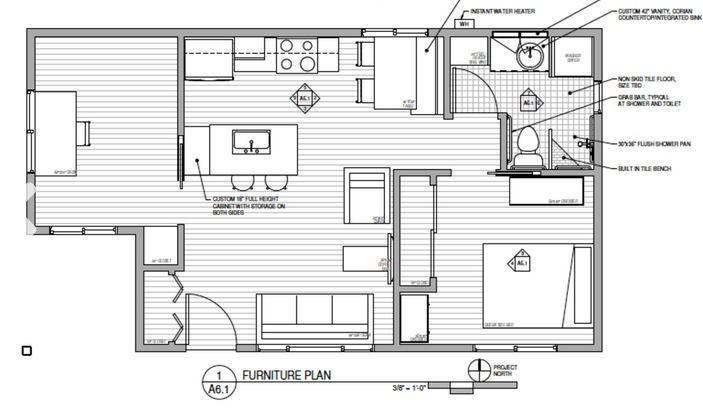 610 Sq  Ft  Small House in California by New Avenue Homes